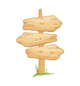 Старый деревянный знак на траве с грибами.