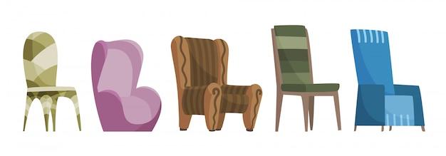 インテリアスタイルの椅子の快適な座席セット。