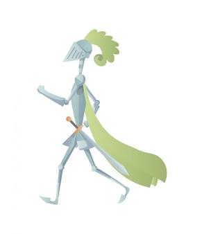 フルアーマーの中世の騎士