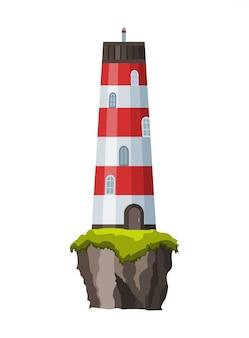 Прожекторная башня для морского навигационного наведения.