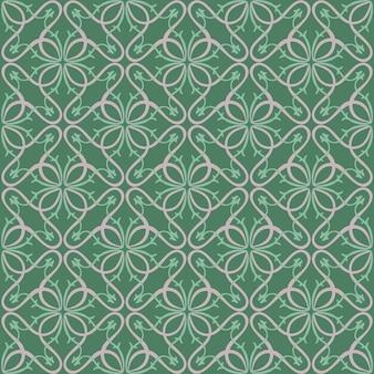 抽象的な花の幾何学模様のプリント。