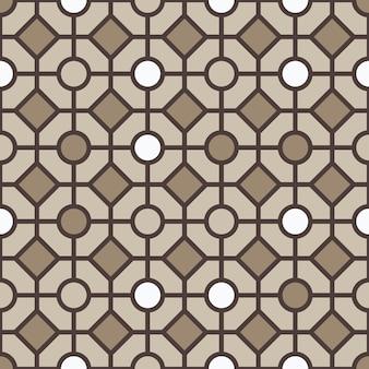 幾何学的図形のベクトルの背景からのシームレスなパターン。