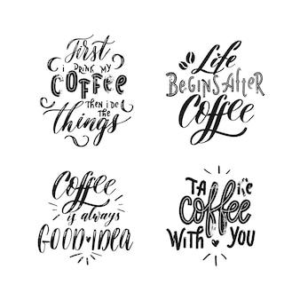 コーヒーのセット