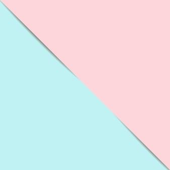 青とピンクの紙の幾何学的な背景