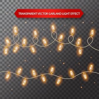 Огни лампочки, изолированные на прозрачном фоне