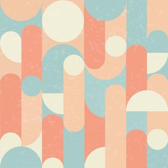 レトロなシームレスパターンデザイン。