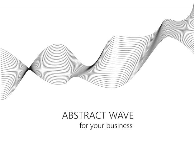 抽象的な波