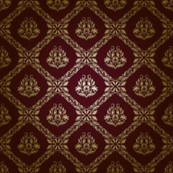 ダマスク織のシームレスな花柄。