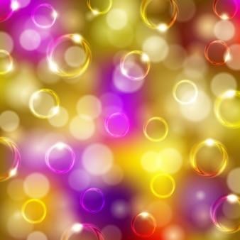 泡、ボケ味を持つお祭りの背景