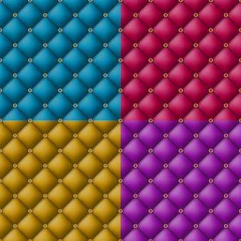 ボタン房状の革パターン背景