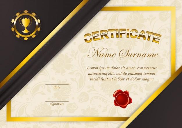 Элегантный шаблон сертификата, диплома