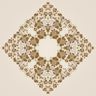 Декоративный круглый кружевной узор, круг фон