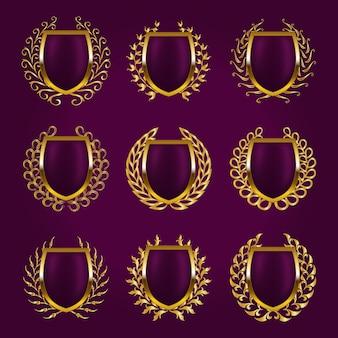 月桂冠と黄金の盾