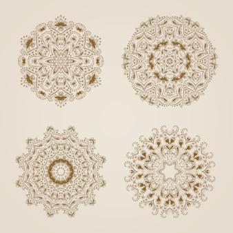 Декоративный круглый кружевной образец