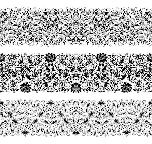 Горизонтальные элементы декора вектор