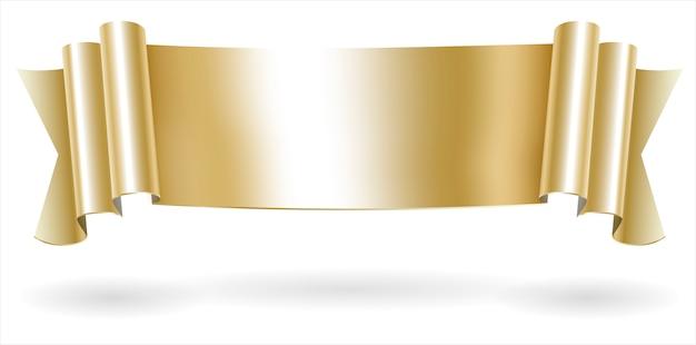 黄金の装飾スクロールバナー