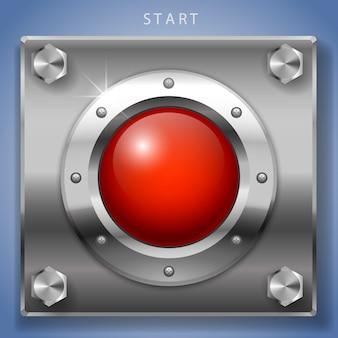 赤いスタートボタンの点火