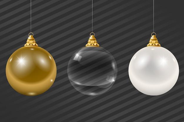 クリスマスガラス花輪のセット