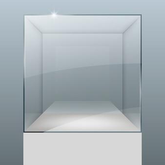 ガラスからのショーケース