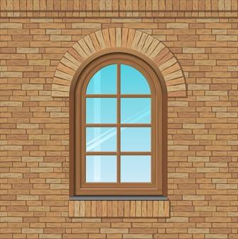 アーチ型の古い窓