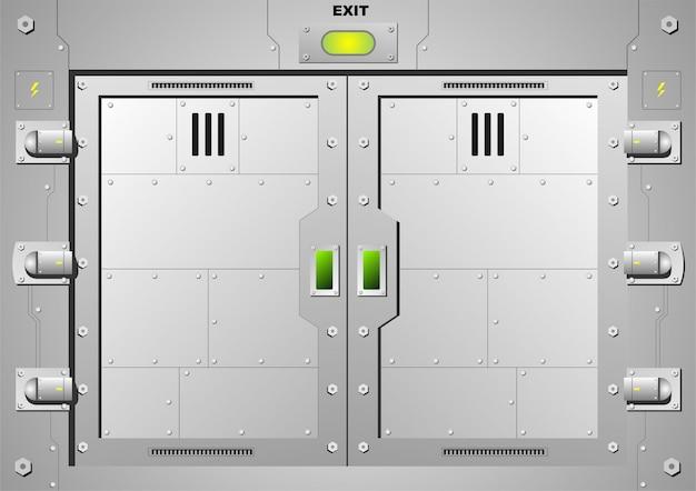 ベクターグラフィックスの鋼製ドアロックをスライドさせます。