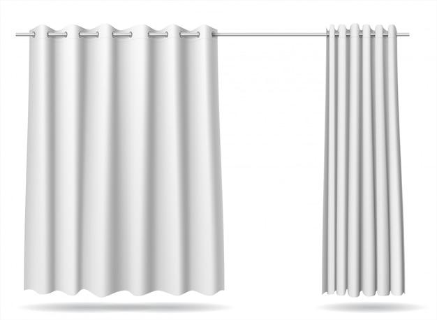 Комплект белой шторки для раздевалок магазина больницы