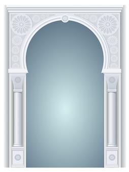 アラビア風のアーチ