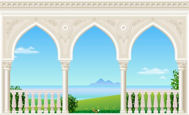 宮殿の古典的なアーチ