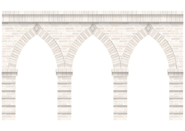 Старинная аркада из каменной кладки. стена и фасад