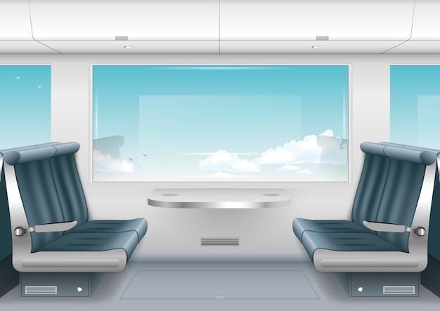 Интерьерный скоростной поезд