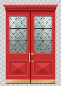 赤いヴィンテージのドア