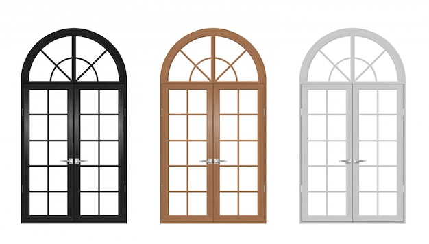 Деревянные старинные арочные двери