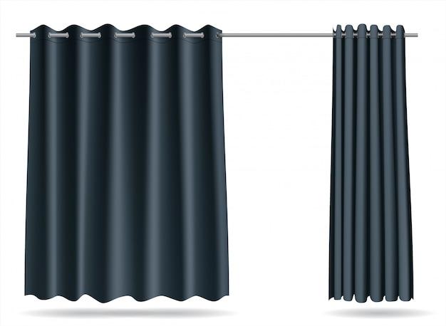 Комплект серых штор