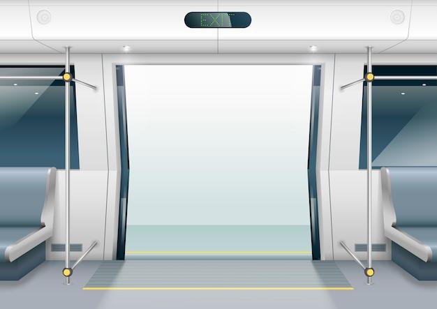 地下鉄の車のドア