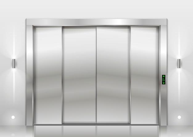 Закрытые двери лифта