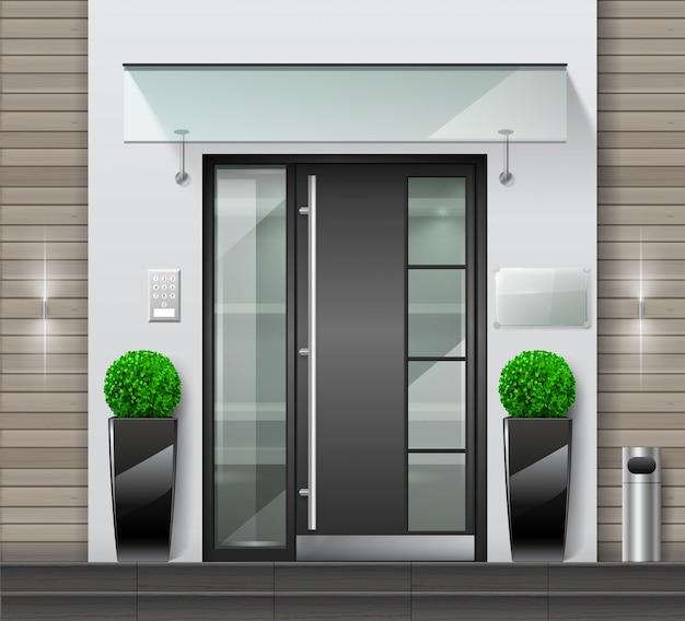 建物やオフィスへの近代的な入り口
