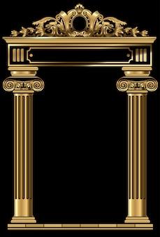 クラシックアンティークゴールドヴィンテージ豪華なアーチフレーム