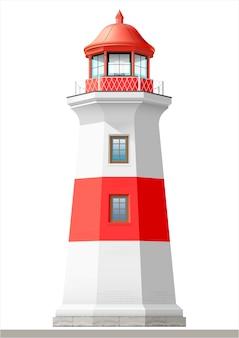 明るい海の灯台