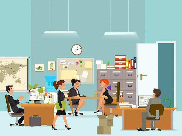 Рабочий день в офисном здании.