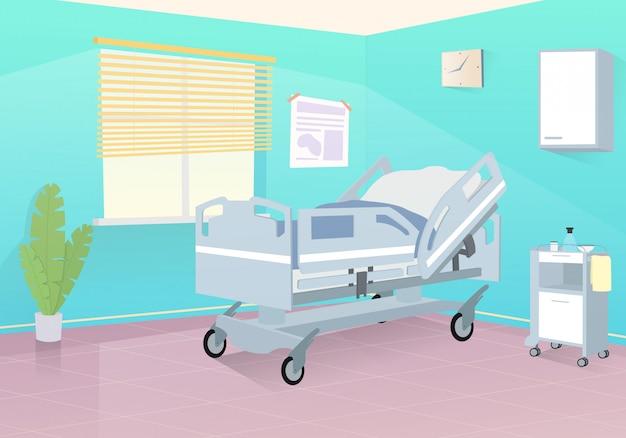 Пустая больничная палата готова к приему пациентов.