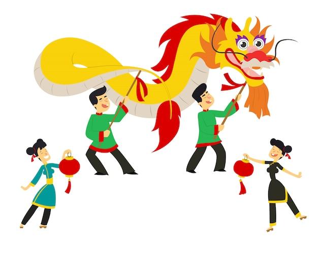 Китайский новогодний фестиваль / танец дракона