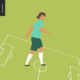 Женский европейский футбол, футболист