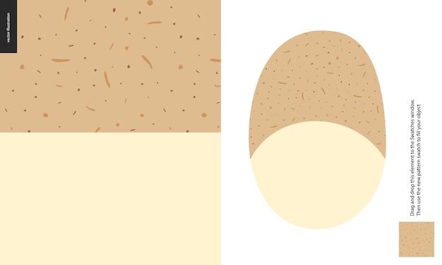 食品パターン、ポテト