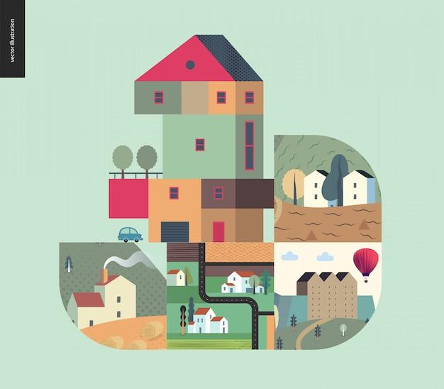 シンプルなもの-家の構成