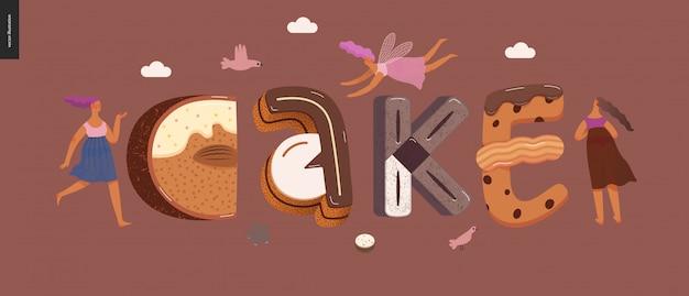 Десерт соблазнительный шрифт