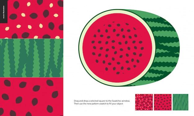 Пищевые узоры, фрукты, арбуз