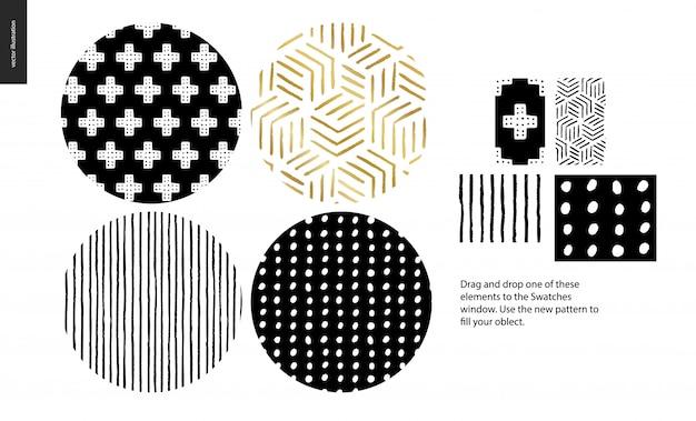 手描きのパターン