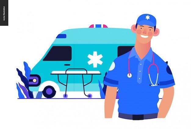 医療保険のテンプレート-救急車の輸送と緊急避難