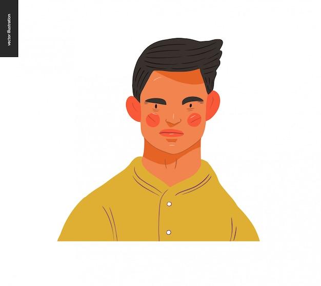 Портреты реальных людей - брюнетка