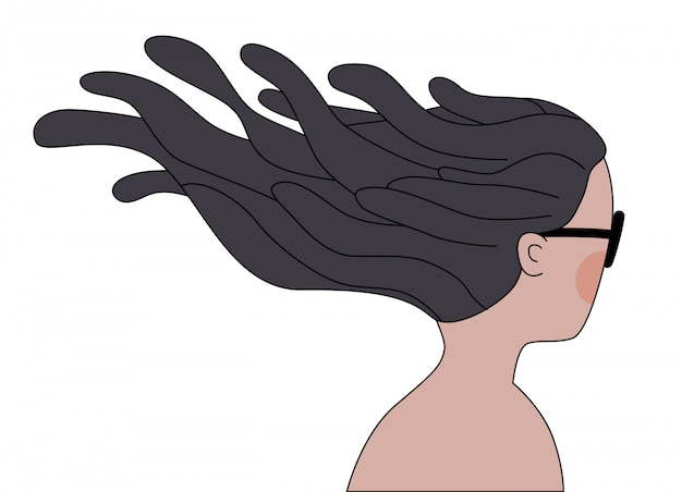 Ветер брюнетка девушка